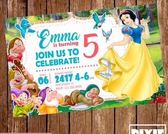 Snow White Invitation, Snow White Birthday Invitation, Snow White Printable Invitation, Snow White Printable Party