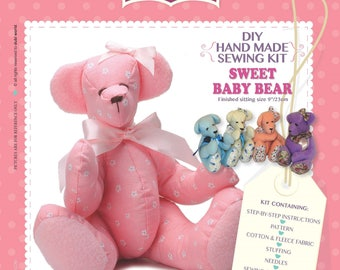 DIY Craft Hand Made Sewing Kit - Sweet Baby Bear Unique Gift & Family Time