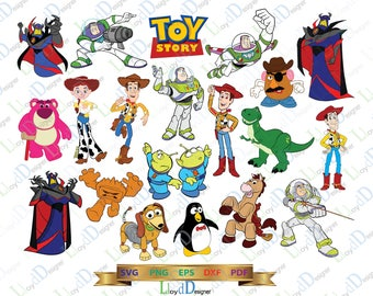 Disney pixar Toy Story SVG files Disney svg Toy story clipart toy story decor birthday party svg eps dxf png cut files digital cameo cricut