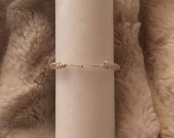 925 silver viking knit bracelet.