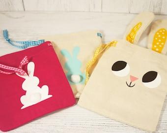 Mini Bunny Drawstring Bags