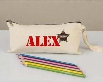 Pencil cases, pencil case for kids, pencil cases boxes, pencil cases personalized,  pencil cases fabric, cotton pencil case, sheriff star