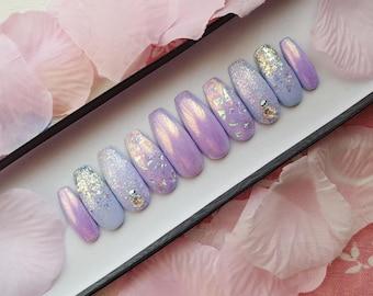 Sweet Dreams Nail Set- press on nails, fake nails, false nails, reusable nails
