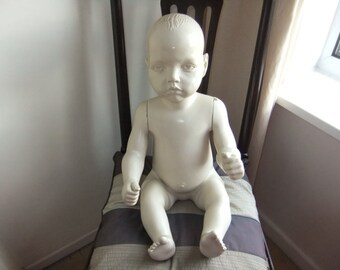 Vintage Bonami  Belgium Sitting Toddler Mannequin with removable arms and legs