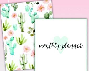 Floral Cactus 2018-2019 Planner