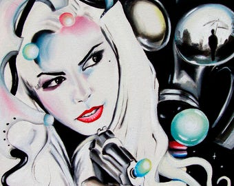 """High Quality Large Giclee Print on Canvas of Original Oil Painting Titled: """"Miss Krystle"""""""
