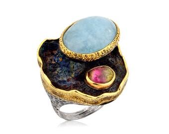 Handmade Aquamarine Ring