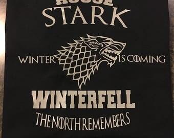 House Stark Tshirt Game of Thrones inspired