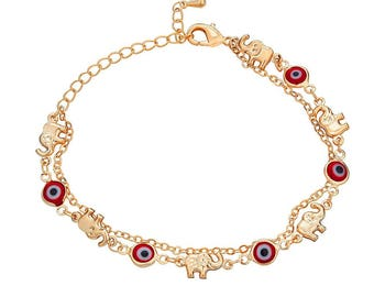 Special Bracelet with Red-Eye and Elephant Pattern