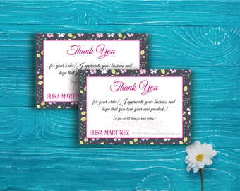Thirty One Thank you card, Custom Thirty Thank Card, Fast Free Personalization, Thirty-One Custom Thanks Card, Printable Digital File