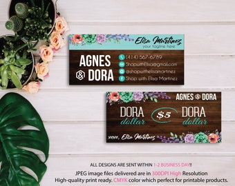 Dora Dollars, Agnes and Dora Cash Card, Custom Agnes And Dora, Agnes Dora Wooden Background, Digital Agnes and Dora, Printable File Ag09