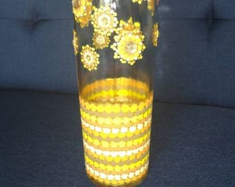 Pointillism Decorative Bottle