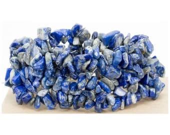 Genuine Lapis Lazuli Gemstone Multi-Strand Stretchy Bracelet