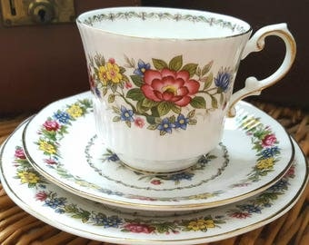Elizabethan Fine Bone China 'Tamarin' Cup and Saucer and Tea Plate