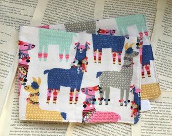 Large Bag - Party Llamas Flannel Pattern