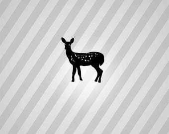 Deer Silhouette Spots - Svg Dxf Eps Silhouette Rld RDWorks Pdf Png AI Files Digital Cut Vector File Svg File Cricut Laser Cut