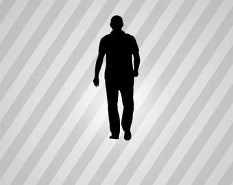walking man Silhouette - Svg Dxf Eps Silhouette Rld RDWorks Pdf Png AI Files Digital Cut Vector File Svg File Cricut Laser Cut