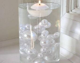 All White Pearls Vase Fillers in Jumbo and Assorted Sizes for Centerpieces and Tablescapes