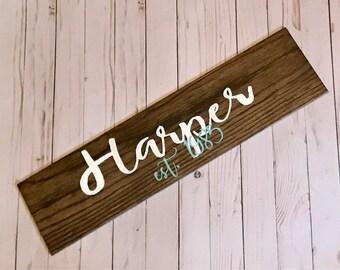 Wooden Tile Custom Name Sign