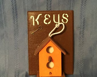 Birdhouse Key Holders