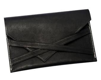 Leather Envelope Clutch Bag, Envelope Clutch, Leather Clutch Bag, Envelope Bag, Leather Pouch Bag, Envelope Purse, Brown leather Purse