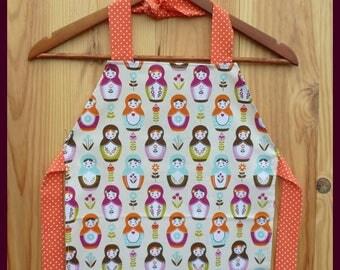 """Matrioska"", one size apron for child"