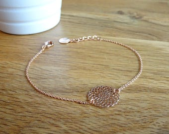 Pink thin Gold Bracelet with primer shaped sound hole
