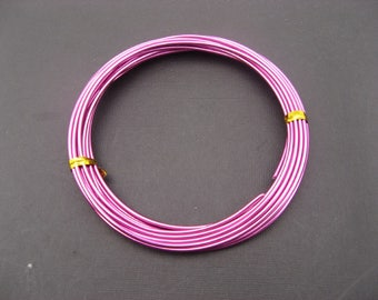 Wire aluminum 2 mm fuchsia - 2 meters