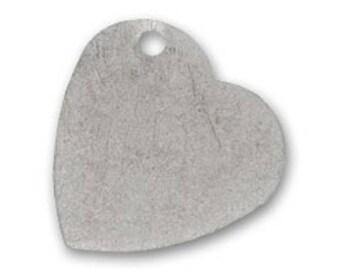 Heart 28 mm antique silver pendant