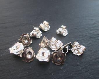 2 strollers for 7 mm Sterling Silver 925 earrings
