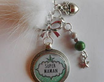 "Bag charm, door keys/MOM / ""SUPER MOM"" / gift/mothers day / thanks/Christmas/birthday"