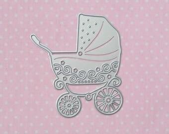 die cut baby carriage stroller. Die cut