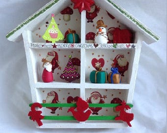 House window wooden Christmas decoration