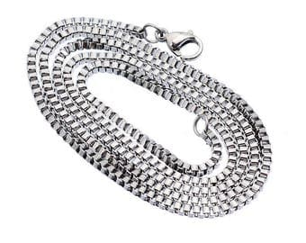 Stainless steel necklace of 51 cm