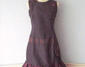 Sleeveless dress, violet, purple color, size M - 40 romantic woman