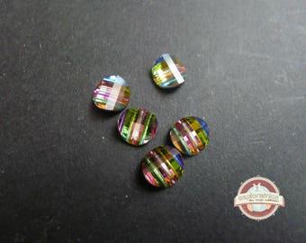 5 reflection 8mm retro vintage vitrail Swarovski Crystal connectors