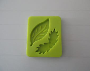 Leaf, leaf Holly for modelling shape silicone mold