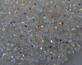Swarovski - Crystal - Aurora Borealis 3 mm beads
