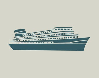 Liner. Cruise ship. Stencil liner. (Ref 361) adhesive vinyl stencil