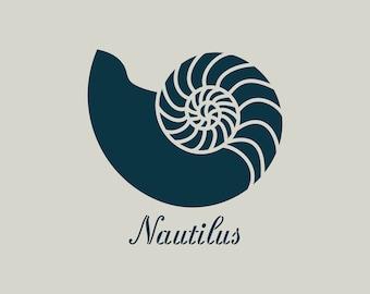 Nautilus stencil. Nautilus stencil.  (ref 675)