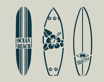 Surfing stencil. Stencil surfboards (ref 85)