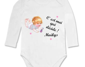 Bodysuit it's me who decides to personalized with name