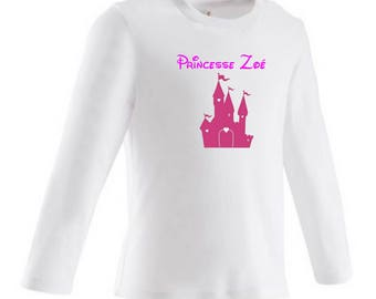 baby Princess Castle personalized with name t-shirt