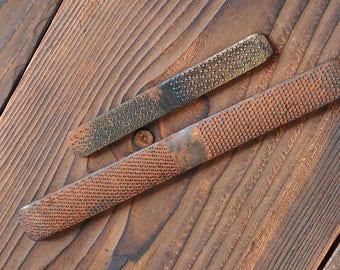 Een paar van de oorspronkelijke schoenmaker bestanden die worden gebruikt voor hand werken van de jaren 60