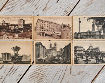 Lot of Vintage Italy Postcards of 30s.Beautiful Rome postcards of 30s