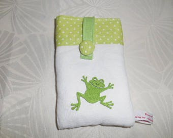 Laptop pocket with zipper - frog