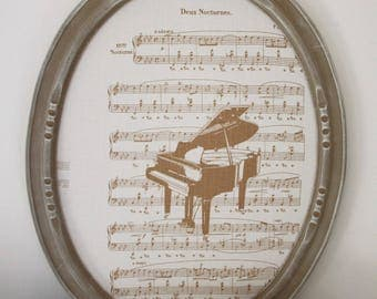 "Old weathered wood frame ""musical moment"""