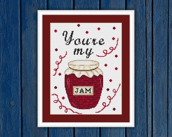 "You""re my jam - cross stitch pattern PDF 