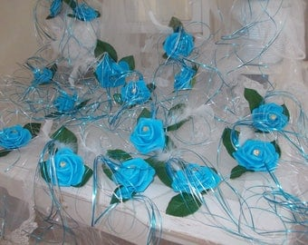 wedding turquoise table decorations