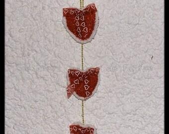 hanging heart crochet for Christmas